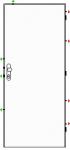 Bezpečnostní dveře K245/3 - Zvýš. požární odolnost